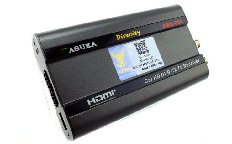 digital tv ทีวี ใน รถ ยนต์ TV DIGITAL ASUKA ARA-600  ติดตั้ง ดิจิตอล จูนเนอร์