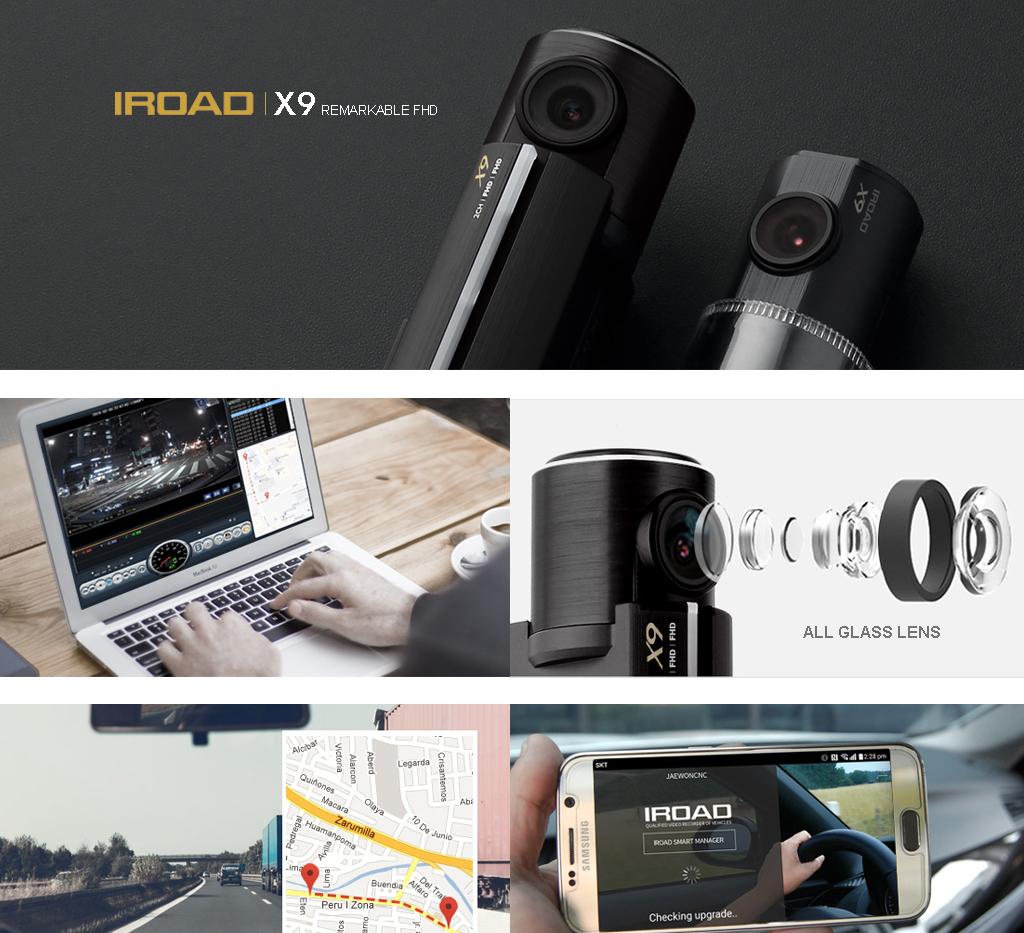 กล้องติดรถยนต์ IROAD X9